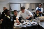 Nick meets Raymond Blanc at launch of Charlton Manor's new teaching kitchen